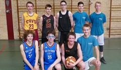 Basketters in actie